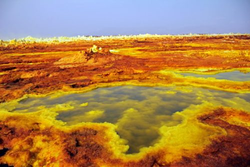 sulphur-pools